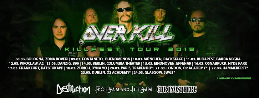 overkill tour killfest affiche