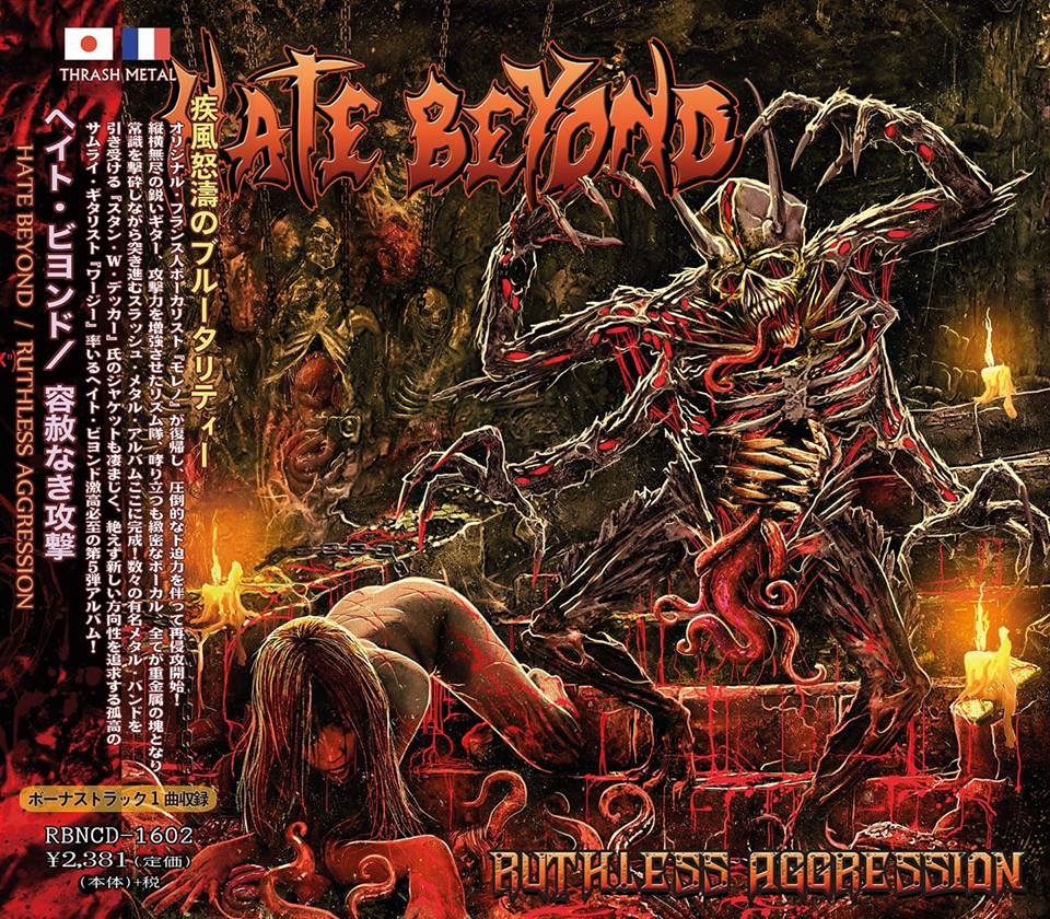 Hate Beyond Ruthless Agression Japan cover