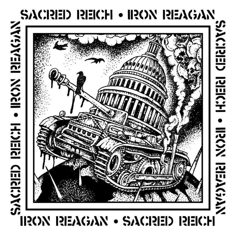 sacred reich iron reagan split cover