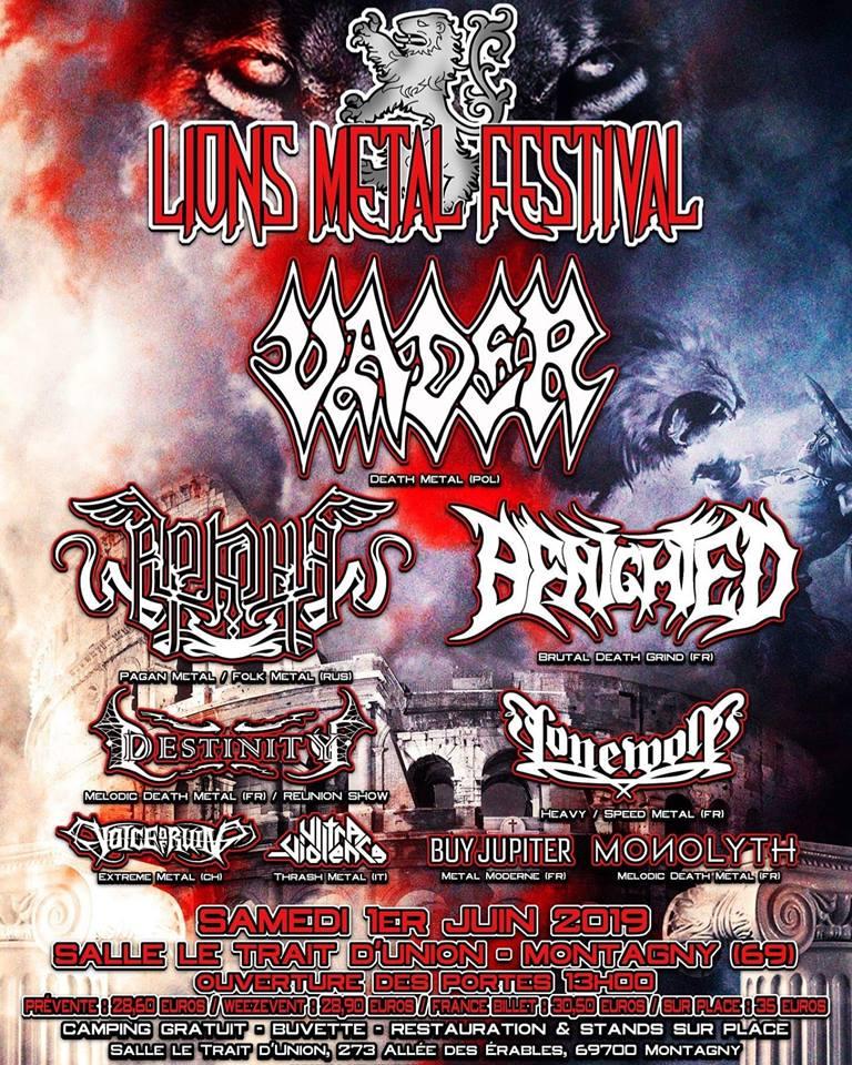 Vader affiche concert Montagny