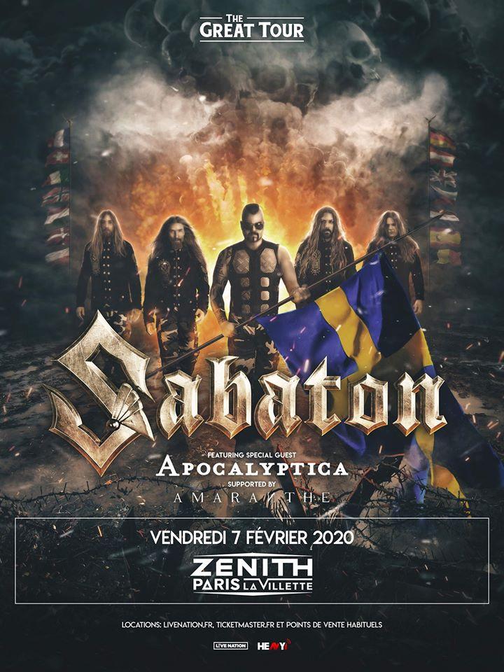 Sabaton - Paris février 2020