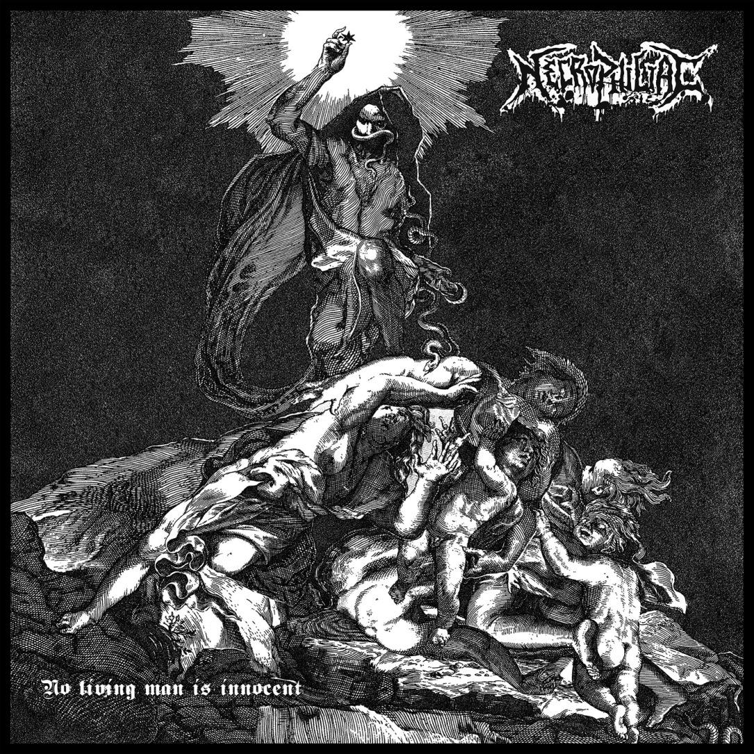 Necrophiliac - No Living Man 12x12cm